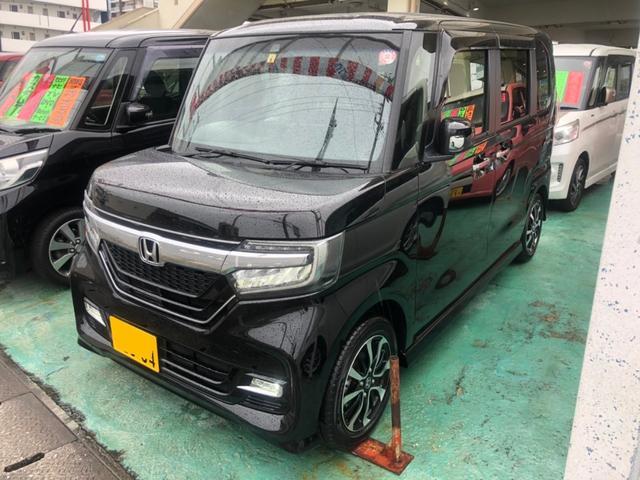 沖縄県の中古車ならN-BOXカスタム G・Lホンダセンシング ナビTV