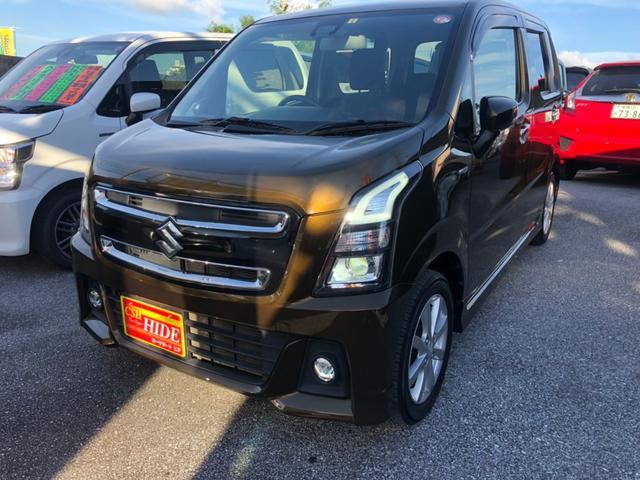 沖縄県の中古車ならワゴンRスティングレー ハイブリッドX アイドリングストップ レーダーブレーキサポート