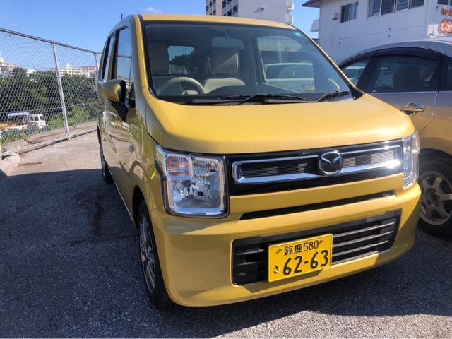 沖縄の中古車 マツダ フレア 車両価格 76万円 リ済込 2017(平成29)年 1.8万km イエロー