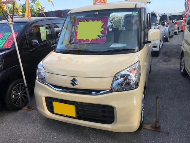 沖縄の中古車 スズキ スペーシア 車両価格 72万円 リ済込 2016(平成28)年 7.9万km イエロー