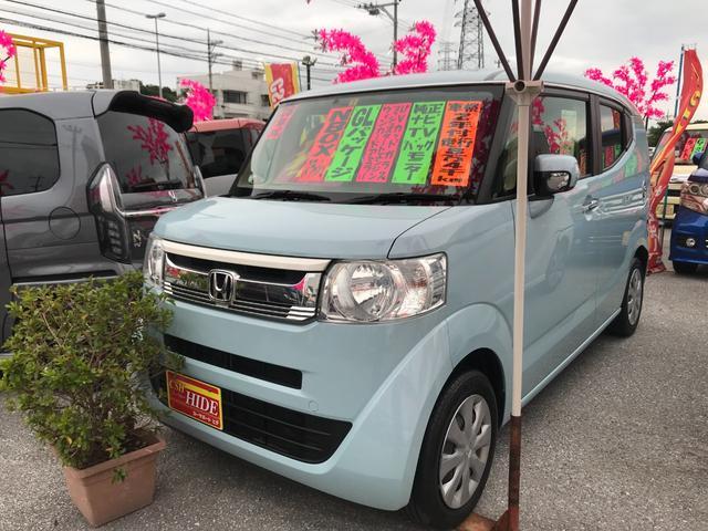 沖縄の中古車 ホンダ N-BOXスラッシュ 車両価格 92万円 リ済込 2016(平成28)年 8.4万km ライトブルー