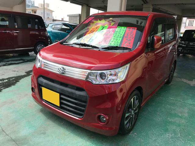 沖縄の中古車 スズキ ワゴンRスティングレー 車両価格 56万円 リ済込 2012(平成24)年 9.1万km レッド