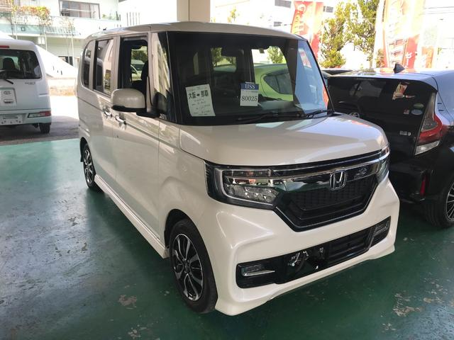 沖縄県の中古車ならN-BOXカスタム G・EXホンダセンシング ナビTV