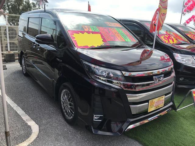 沖縄県沖縄市の中古車ならノア ハイブリッドSi セーフティセンス 純正フルセグナビ