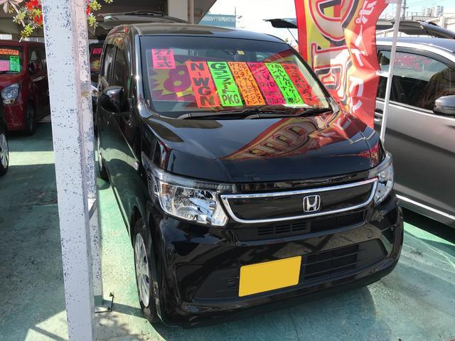 沖縄の中古車 ホンダ N-WGN 車両価格 80万円 リ済込 2015(平成27)年 2.7万km スマートブラック