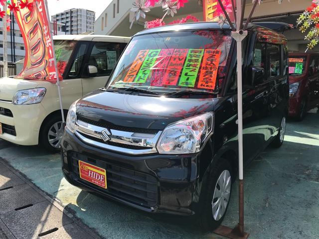 沖縄の中古車 スズキ スペーシア 車両価格 73万円 リ済込 2016(平成28)年 8.7万km ブラック
