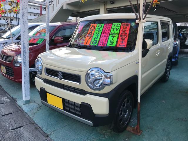 沖縄の中古車 スズキ ハスラー 車両価格 156万円 リ済込 2020(令和2)年 0.9万km シフォンアイボリーメタリック