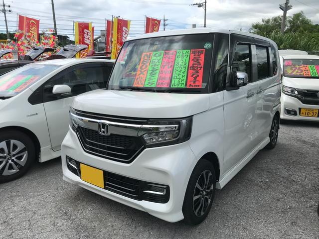 沖縄県の中古車ならN-BOXカスタム G・EXホンダセンシング 純正フルセグナビ