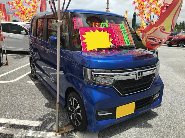 沖縄の中古車 ホンダ N-BOXカスタム 車両価格 126万円 リ済込 2019年 1.6万km ブルー