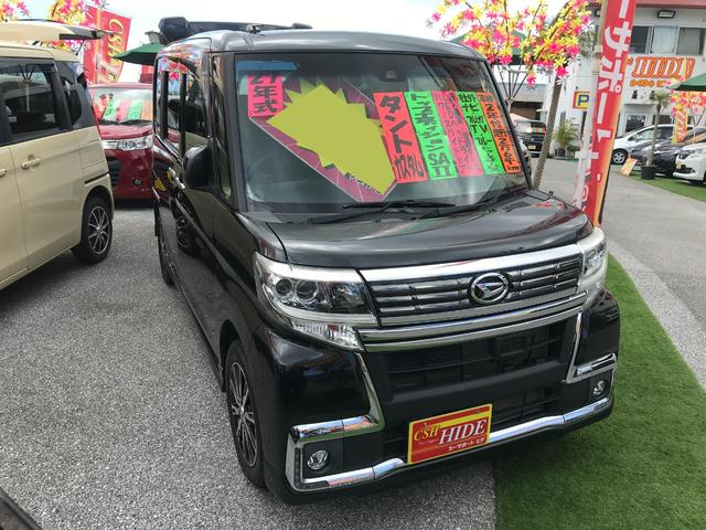 沖縄の中古車 ダイハツ タント 車両価格 99万円 リ済込 2015(平成27)後 2.6万km ブラック