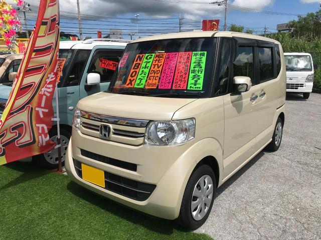 沖縄の中古車 ホンダ N-BOX 車両価格 92万円 リ済込 2016(平成28)後 6.2万km ベージュ