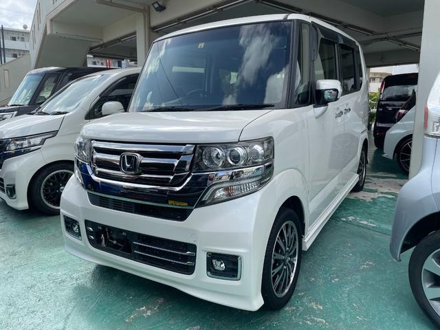 沖縄の中古車 ホンダ N-BOXカスタム 車両価格 103万円 リ済込 2016(平成28)年 6.1万km パール