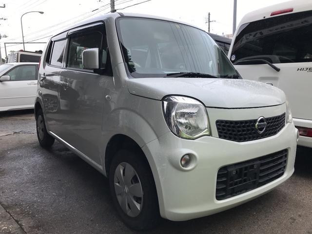 沖縄の中古車 日産 モコ 車両価格 33万円 リ済込 平成23年 16.2万km スノーパールホワイト