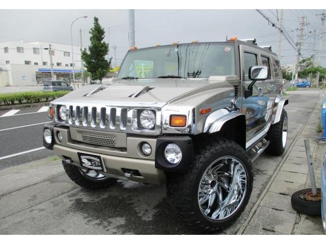 沖縄県の中古車ならハマーH2 ラグジュアリーパッケージ 新品24インチアルミ
