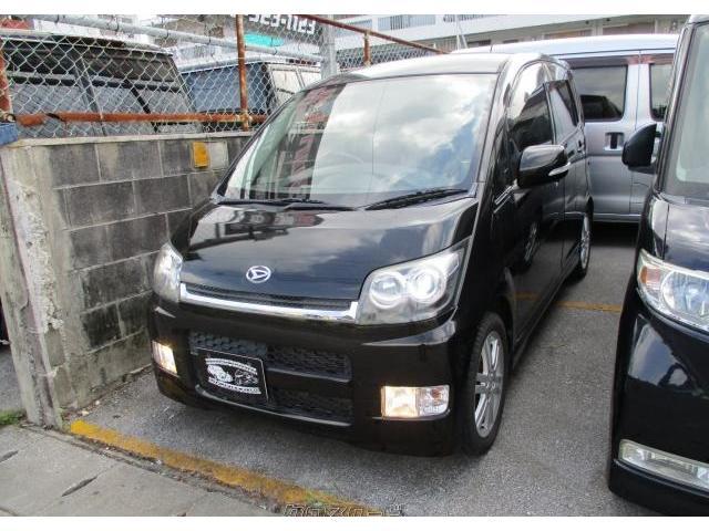 沖縄の中古車 ダイハツ ムーヴ 車両価格 25万円 リ済込 2008(平成20)年 14.6万km ブラックマイカ