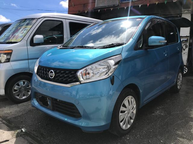 沖縄の中古車 日産 デイズ 車両価格 43万円 リ済込 2013(平成25)年 10.6万km ミネラルブルー