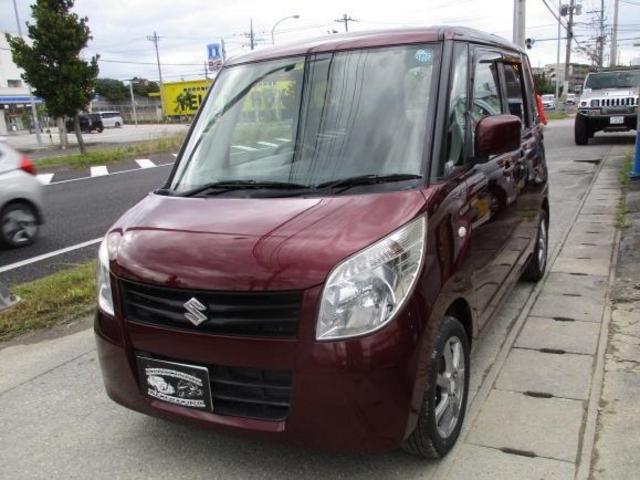 沖縄県の中古車ならパレット G スマートキー プッシュスタート 左パワースライドドア 社外CD ベンチシート Wエアバッグ