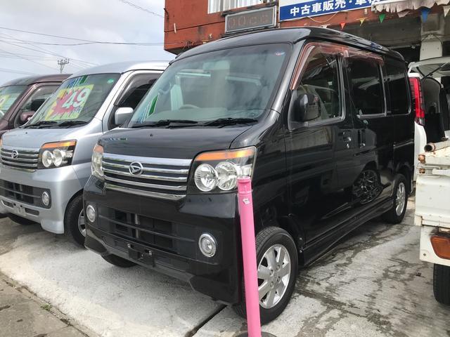 沖縄の中古車 ダイハツ アトレーワゴン 車両価格 49万円 リ済込 2010(平成22)年 12.3万km ブラックM