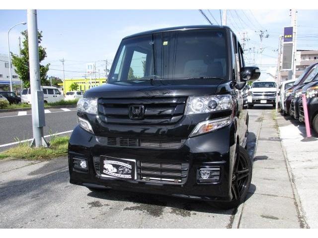 沖縄の中古車 ホンダ N-BOXカスタム 車両価格 108万円 リ済込 2015(平成27)年 4.2万km スマートブラック