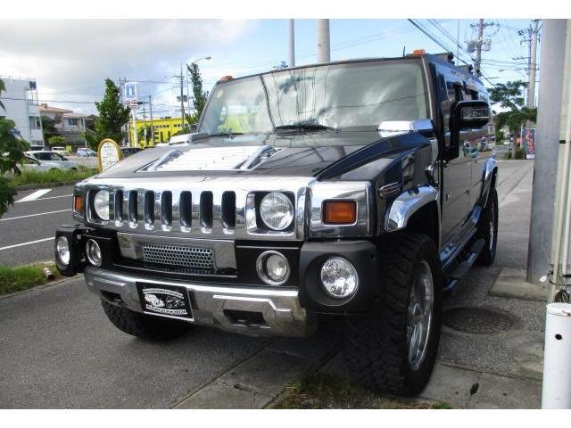 沖縄県の中古車ならハマーH2 ラグジュアリーパッケージ 社外22インチ 新品3インチリフトアップキット レーザーシート HDDナビ DVDビデオ バックカメラ