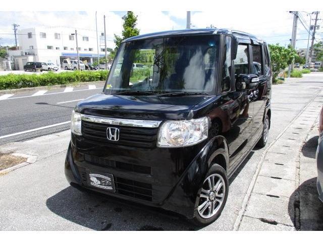沖縄の中古車 ホンダ N-BOX 車両価格 54万円 リ済込 2013(平成25)年 11.8万km クリスタルブラックパール