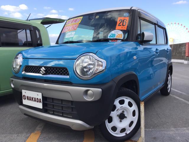 沖縄の中古車 スズキ ハスラー 車両価格 83万円 リ済別 2014(平成26)年 4.7万km サマーブルーメタリックII