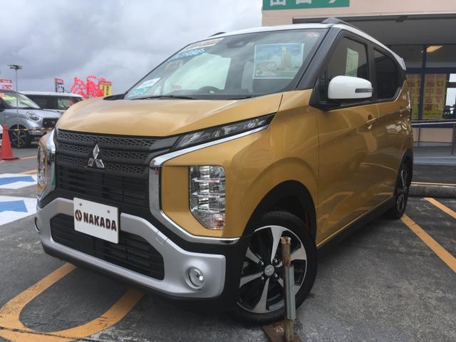 沖縄の中古車 三菱 eKクロス 車両価格 169万円 リ済別 2019(平成31)年 20km サンドイエローメタリック×ホワイト