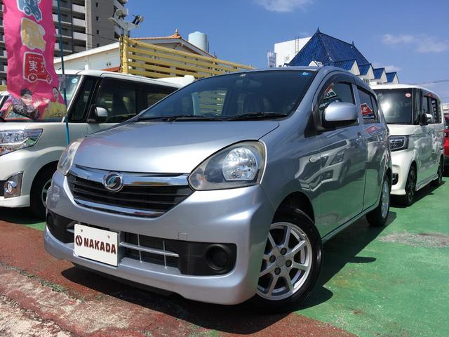 沖縄の中古車 ダイハツ ミライース 車両価格 52万円 リ済別 2013(平成25)年 5.8万km ブライトシルバーメタリック