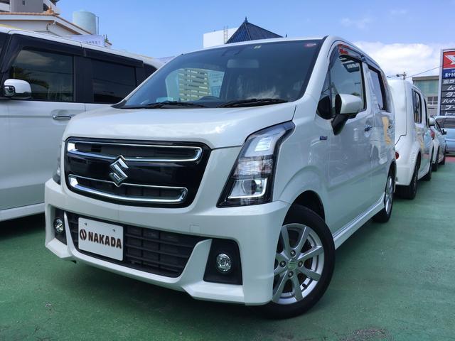 沖縄の中古車 スズキ ワゴンRスティングレー 車両価格 123万円 リ済別 2017(平成29)年 2.5万km ピュアホワイトパール
