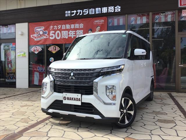 沖縄県中頭郡嘉手納町の中古車ならeKクロススペース G 自社デモカーUP 新車保証継承