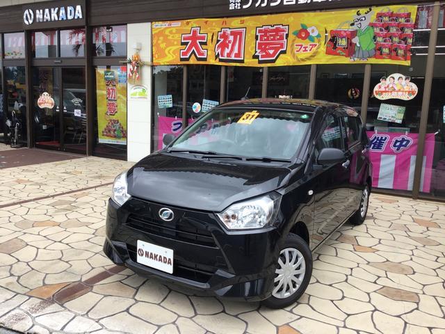 沖縄の中古車 ダイハツ ミライース 車両価格 83万円 リ済別 2019(令和1)年 1.3万km ブラックマイカメタリック