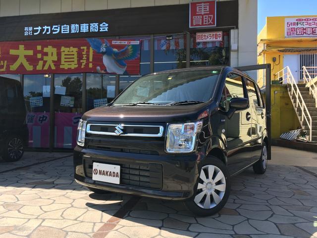 沖縄県中頭郡嘉手納町の中古車ならワゴンR ハイブリッドFX 届出済未使用車 レーダーブレーキサポート