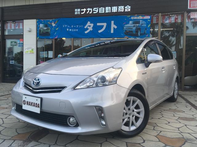 沖縄県うるま市の中古車ならプリウスアルファ S 純正ナビ TV Bluetoothオーディオ