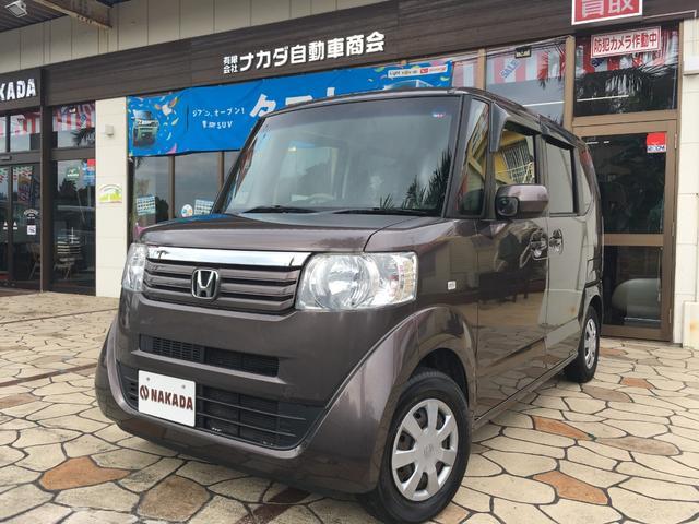 沖縄の中古車 ホンダ N-BOX 車両価格 49万円 リ済別 2012(平成24)年 12.4万km プレミアムブロンズパール