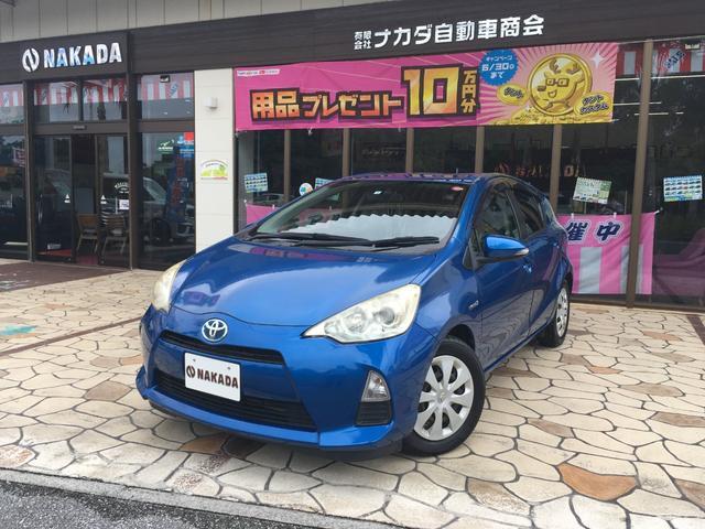 沖縄県の中古車ならアクア S アウトレット車両 純正ナビ TV スマートキー