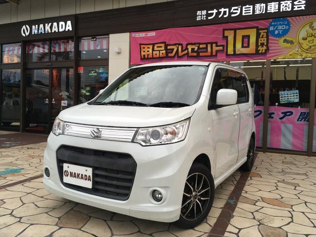 沖縄県の中古車ならワゴンRスティングレー X 社外ナビ TV Bluetoothオーディオ 社外アルミホイール