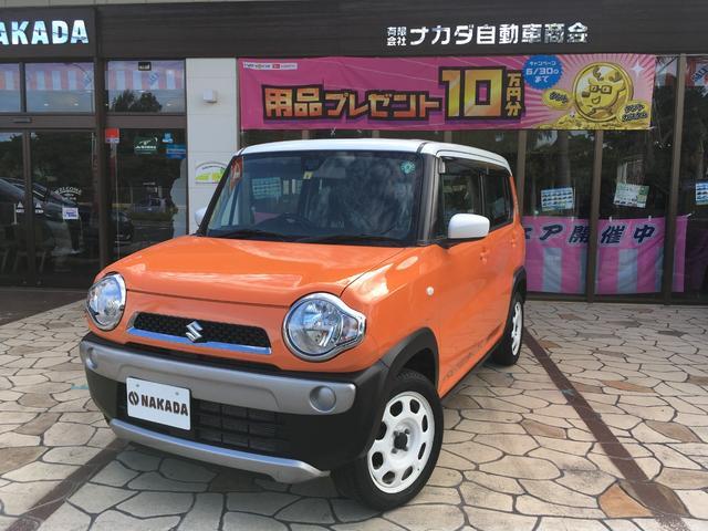 沖縄の中古車 スズキ ハスラー 車両価格 91万円 リ済別 2016(平成28)年 7.3万km パッションオレンジ×ホワイト