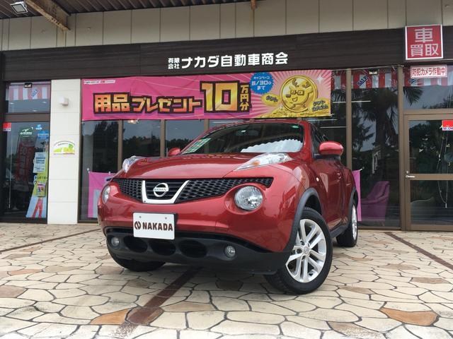 沖縄の中古車 日産 ジューク 車両価格 88万円 リ済別 2013(平成25)年 6.9万km ラディアントレッドPM