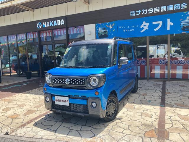 沖縄県の中古車ならスペーシアギア ハイブリッドXZ 自社デモカーUP 届出済未使用車 両側電動スライド マイルドハイブリッド搭載車