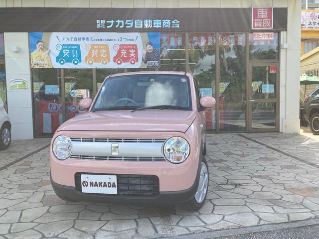 沖縄の中古車 スズキ アルトラパン 車両価格 126万円 リ済別 2021(令和3)年 96km コフレピンクパールメタリック