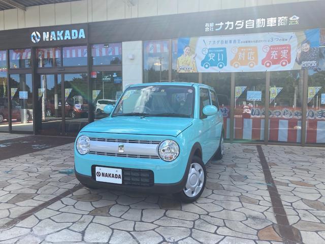 沖縄の中古車 スズキ アルトラパン 車両価格 127万円 リ済別 2021(令和3)年 20km フレンチミントパールメタリック