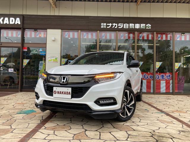 沖縄県中頭郡嘉手納町の中古車ならヴェゼル ハイブリッドRS・ホンダセンシング 純正8インチナビ バックカメラ Bluetoothオーディオ ビルドインETC