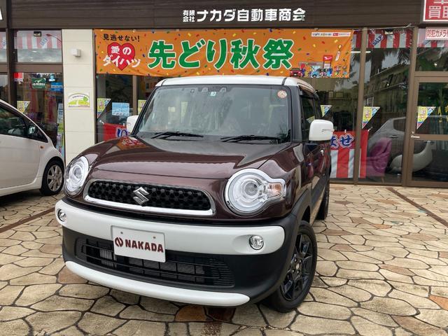 沖縄県の中古車ならクロスビー ハイブリッドMZ Bluetoothオーディオ レーダーブレーキサポート LEDヘッドランプ