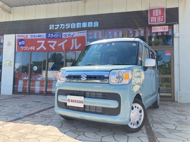 沖縄県の中古車ならスペーシア ハイブリッドX 自社デモカーUP 両側電動スライド レーダーブレーキサポート