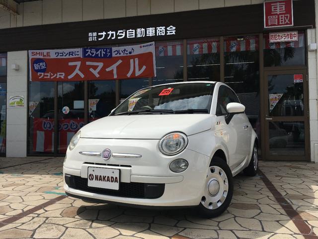 沖縄の中古車 フィアット 500 車両価格 75万円 リ済別 2013(平成25)年 7.1万km ホワイト