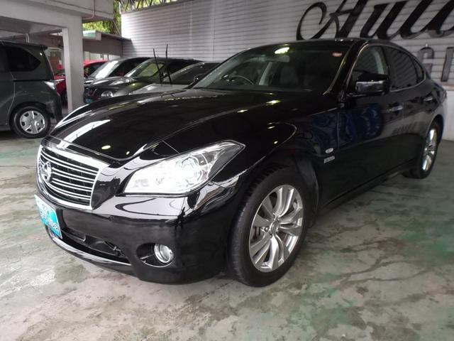 沖縄の中古車 日産 フーガハイブリッド 車両価格 138万円 リ済込 平成23年 7.9万km ブラック