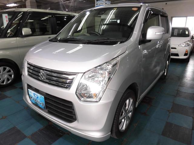 沖縄の中古車 スズキ ワゴンR 車両価格 63万円 リ済込 平成25年 7.0万km シルバー