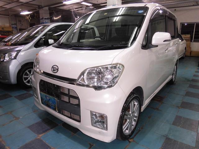 沖縄の中古車 ダイハツ タントエグゼ 車両価格 55万円 リ済込 平成23年 6.2万km パールホワイト