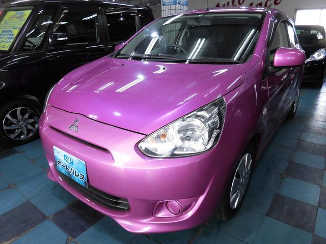 沖縄の中古車 三菱 ミラージュ 車両価格 45万円 リ済込 平成25年 8.9万km ピンク