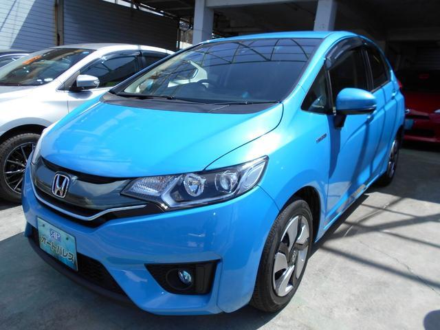 沖縄の中古車 ホンダ フィットハイブリッド 車両価格 79万円 リ済込 平成26年 7.8万km ブルーM